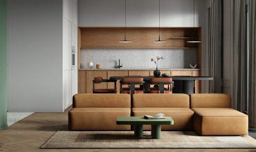 Paletas de decoración de interiores verdes y marrones inspiradas en la naturaleza